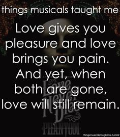 Love Never Dies. amazingly on the same level as phantom. It seriously ...