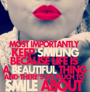 ... Marilyn Monroe quote reminding you to smile because life is beautiful