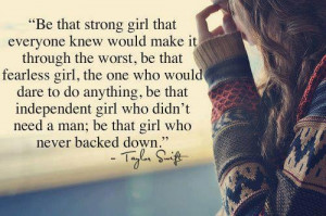 Girl Who Never Backed Down