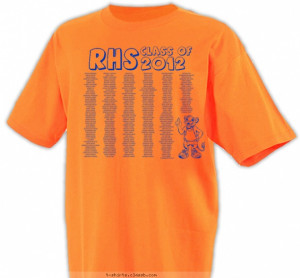 Graduating Class Names w/ Mascot Shirt T-shirt Design