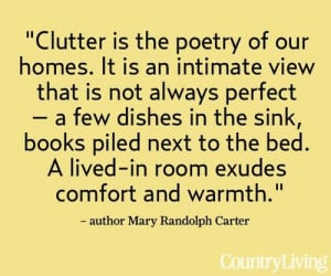 Clutter is the poetry of our homes....