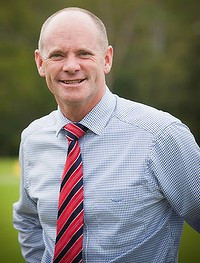 Queensland LNP leader Campbell Newman in the electorate of Ashgrove ...