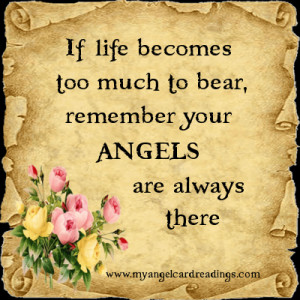 ... angels are always there mary jac more angel parchment image quotes