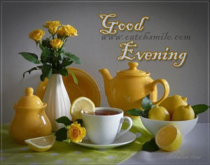 Good Evening Tea Cup Set Graphic