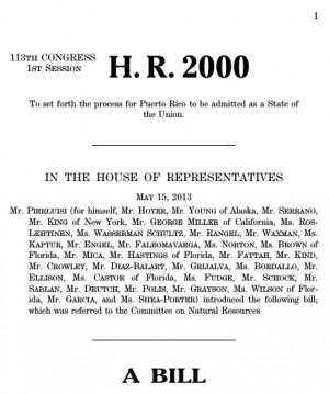 2000 (113 th ): Puerto Rico Status Resolution Act