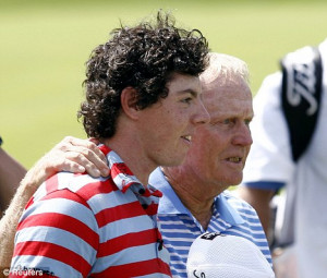 Jack Nicklaus (Right) has slammed Rory McIlroy walking off course at ...