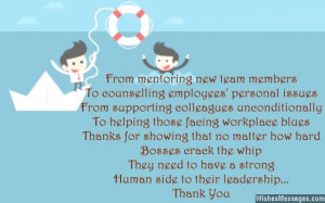 Quote to say thank you to boss Thank You Notes for Boss: Messages and ...