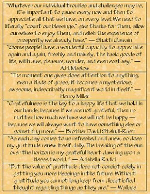 great sayings for the gratitude box