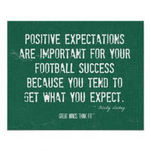 Football Success Quote and Poster