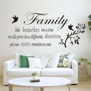 ... Home Decor » Family like branches on a tree Quotes wall decal sticker