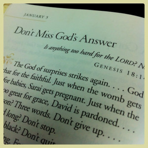 Don't miss God's answer by Max Lucado
