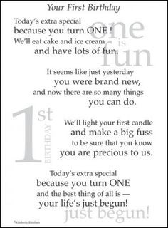 first birthday poem More