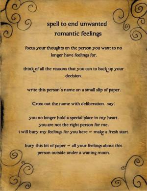 End Unwanted Romantic Feelings