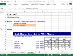 Stock Quotes Msn Parameters ~ MSN MoneyCentral IQY Web Query | Excel ...