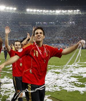 Spanish Midfielder Cesc Fabregas, on Spain's 1-0 win over Germany in ...