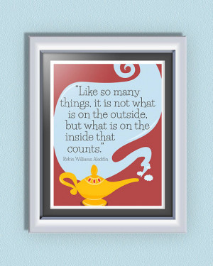 Inspirational Disney Quote from Aladdin - Typographic Disney Poster ...