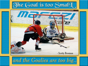 Funny Hockey Goalie Pictures The goalies are too big