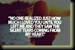 Heartbreak, When you left me, tears