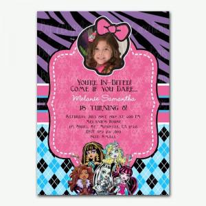 Monster High Girl's Birthday Party Invitations