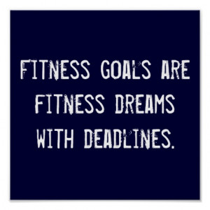 Fitness Goals Posters