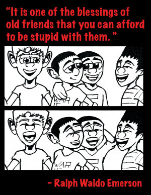 Being stupid with friends...