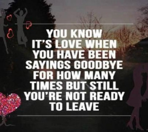 Saying goodbye quotes, deep, meaning, love