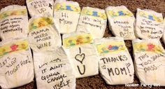 HPG Diaper Notes - have baby shower guests write funny or supportive ...