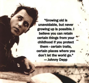 Johnny depp, quotes, sayings, growing old, quote