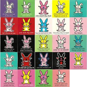 ... of-24-Stickers-HAPPY-BUNNY-orig-S-1-2-mix-funny-rude-attitude-sayings
