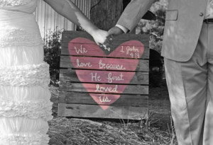 Bride and Groom Pallet Biblical Quote