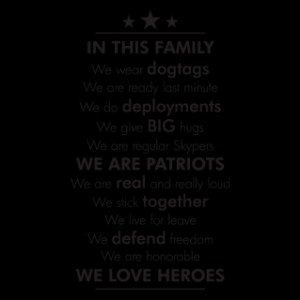 Military In This Family Wall Quotes™ Decal