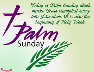 Palm Sunday Quotes and Sayings with Quote Pictures