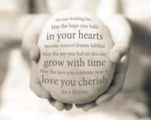 Quotes Blessings Wedding ~ Popular items for wedding blessing on Etsy