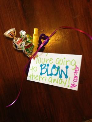 Good Luck Sayings For Cheerleaders Good luck gift! blow pops, mini ...