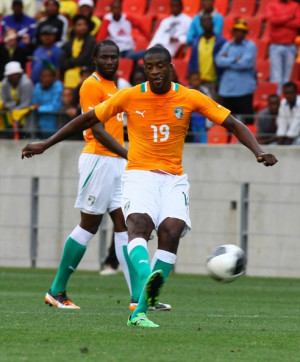 Yaya Toure Yaya Toure of Cote D'Ivoire in action during the Nelson ...