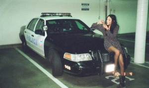 ... shit up, fuck the police, girl, illigal, lol, police car, smoke, weed