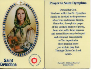 Day With Anxiety: St. Dymphna, Pray for Us.