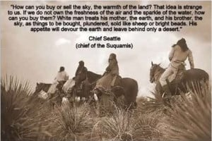Chief Seattle: how can you buy or sell the sky, the warmth of the land ...
