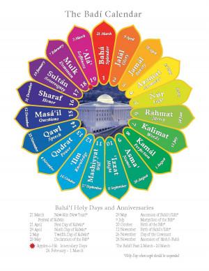 Baha'i Feast Calendar