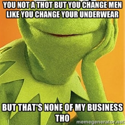 Kermit the frog - You not a Thot but you change men like you change ...