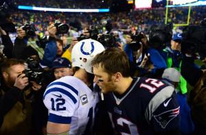 Jan 11, 2014; Foxborough, MA, USA; New England Patriots quarterback ...