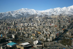 Stock photo: Skyline Of Tehran, Iran. Showing The Elburz Mountains In ...