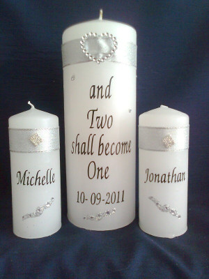Wedding Unity Candles by Rose