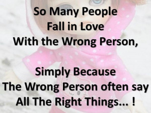falling in love with the wrong people