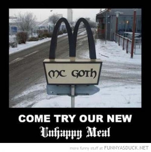 mc goth mcdonalds unhappy meal funny pics pictures pic picture image ...