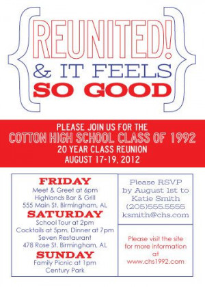 ... Class Reunion Invitation Reunited and by fishandlinedesign, $25.00