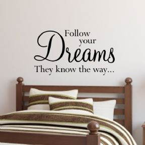 Follow your dreams wall art sticker H548K