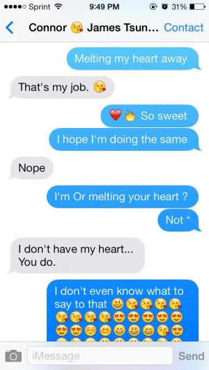 He's so sweet to me