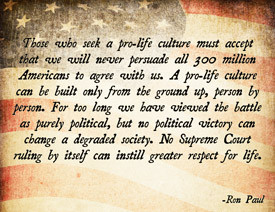 Ron Paul Pro-Life Poster