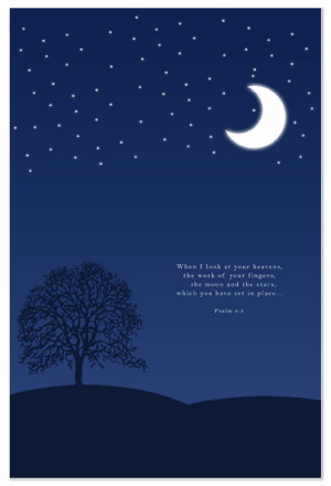 art prints - Moon and Stars Bible Verse by My Sweetie Pie